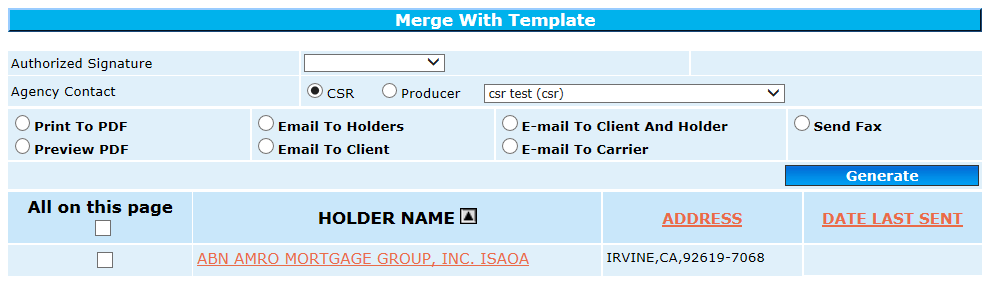 Merge with Template Cert Prop